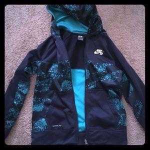 Nike Jackets & Coats - Boys size large navy blue jacket